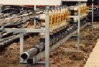 Verteileraufbau für eine Ebbe-Flut Anlage