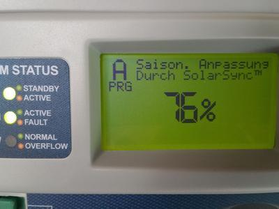 Der SolarSync Sensor regelt die Bewässerungszeiten je nach Witterung
