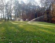 Beregnung einer privaten Parkanlage mit Rasenflächen, Beeten und Hecken
